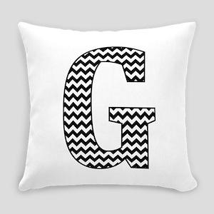Black and White Chevron Letter G Monogram Everyday