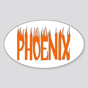 Phoenix Oval Sticker