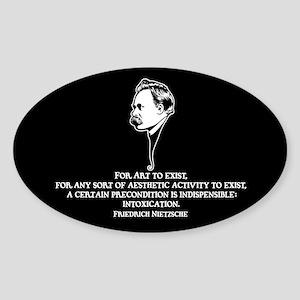 Nietzsche -Art II Sticker (Oval)