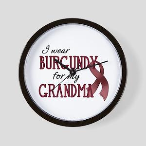 Wear Burgundy - Grandma Wall Clock