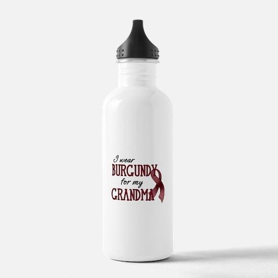 Wear Burgundy - Grandma Water Bottle