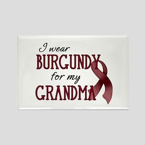 Wear Burgundy - Grandma Rectangle Magnet