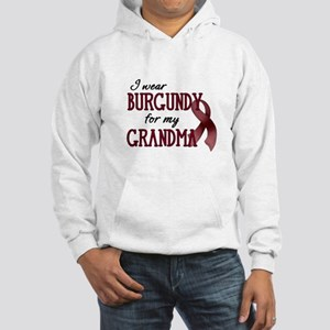 Wear Burgundy - Grandma Hooded Sweatshirt