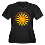 Speed Up Global Warming Women's Plus Size V-Neck D