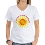 Speed Up Global Warming Women's V-Neck T-Shirt