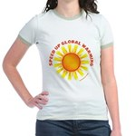 Speed Up Global Warming Jr. Ringer T-Shirt