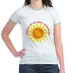 Speed Up Global Warming Jr. Ringer T-Shirt