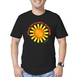 Speed Up Global Warming Men's Fitted T-Shirt (dark