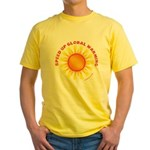 Speed Up Global Warming Yellow T-Shirt