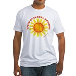 Speed Up Global Warming Fitted T-Shirt