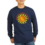 Speed Up Global Warming Long Sleeve Dark T-Shirt