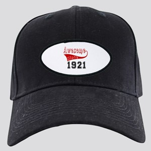 Awesome Since 1921 Birthday D Black Cap with Patch