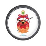 Kawaii Red Candy Apple Wall Clock