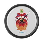 Kawaii Red Candy Apple Large Wall Clock