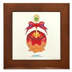 Kawaii Red Candy Apple Framed Tile