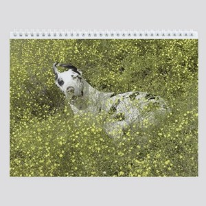 Harlequin Great Dane Meadow Roll Wall Calendar
