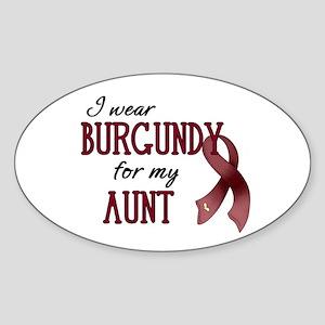 Wear Burgundy - Aunt Sticker (Oval)