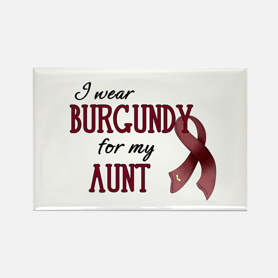 Wear Burgundy - Aunt Rectangle Magnet