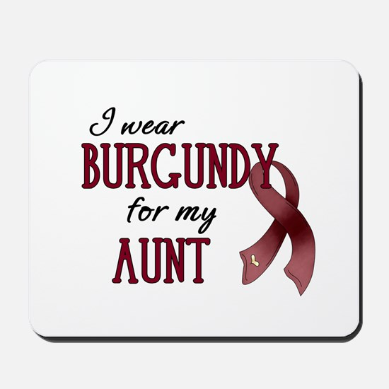 Wear Burgundy - Aunt Mousepad