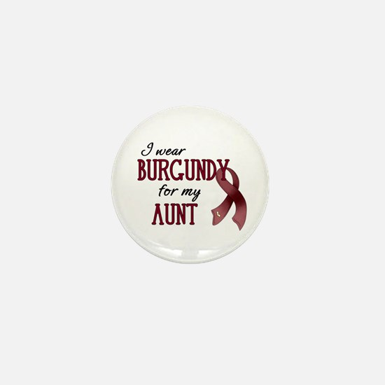 Wear Burgundy - Aunt Mini Button