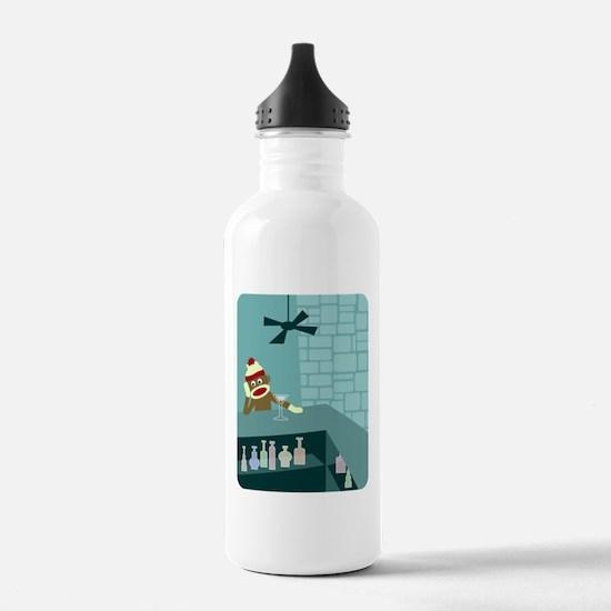 Sock Monkey Martini Bar Water Bottle