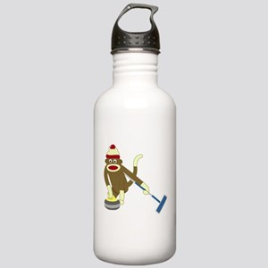 Sock Monkey Olympic Curling Stainless Water Bottle