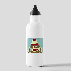 Sock Monkey Angel Devil Stainless Water Bottle