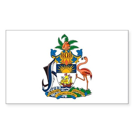 Bahamas Coat of Arms Rectangle Sticker