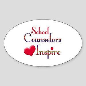 Teachers Inspire counselors Sticker