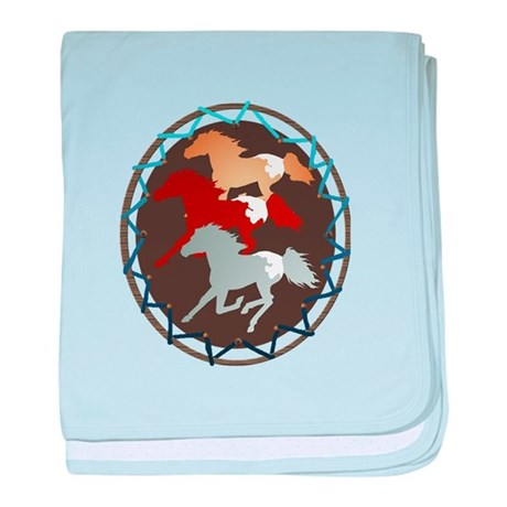 Sheild and Appy Horses Infant Blanket