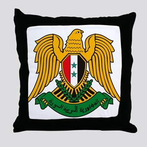 Syrian Coat of Arms Throw Pillow