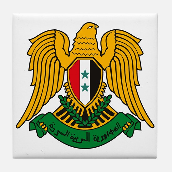 Syrian Coat of Arms Tile Coaster