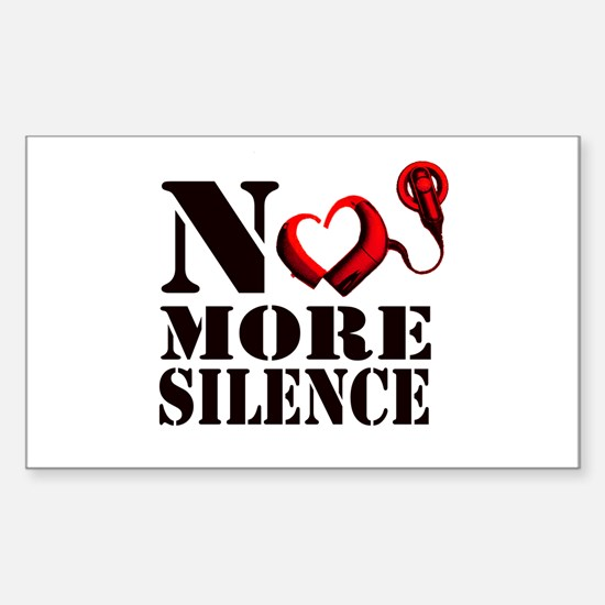 No More Silence Sticker (Rectangle)