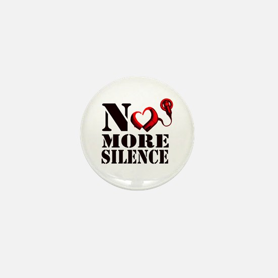 No More Silence Mini Button