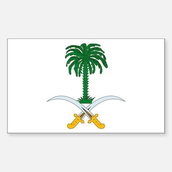 Saudi Arabian Coat of Arms Rectangle Decal