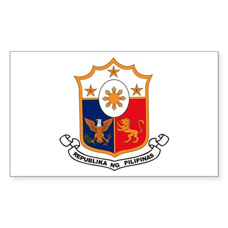 Philippines Coat of Arms Rectangle Sticker
