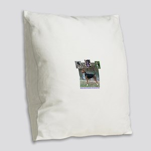 Bigfoot timeline Burlap Throw Pillow