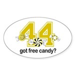 Got Free Candy Sticker (Oval 10 pk)