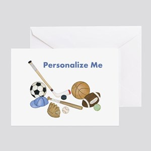 Personalized Sports Greeting Cards