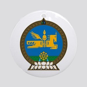 Mongolian Coat of Arms Ornament (Round)