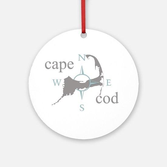 Cape Cod Compass Ornament (Round)