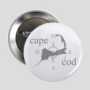"""Cape Cod Compass 2.25"""" Button"""