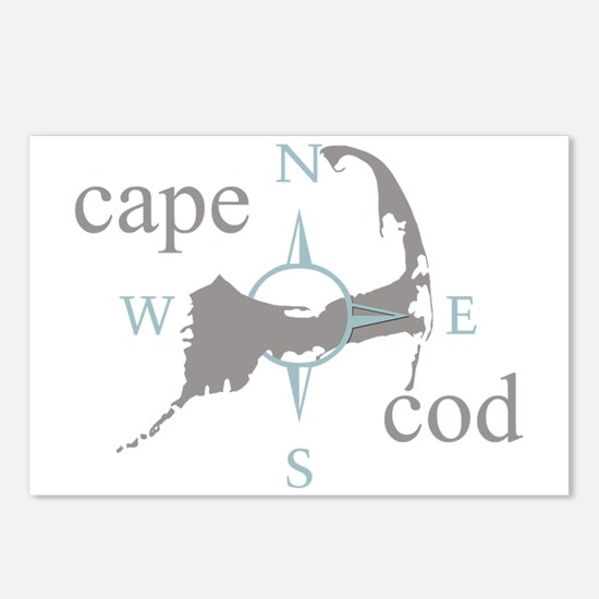 Cape Cod Compass Postcards (Package of 8)