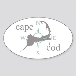 Cape Cod Compass Sticker (Oval)