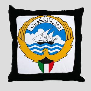 Kuwait Coat of Arms Throw Pillow