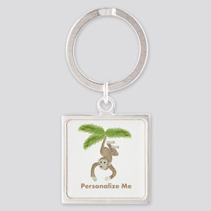 Personalized Monkey Keychains