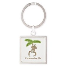 Personalized Monkey Keychains