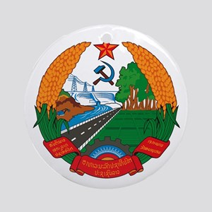 Laos Coat of Arms Ornament (Round)