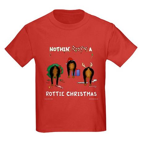 Rottweiler Christmas Kids Dark T-Shirt