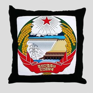 North Korean Coat of Arms Throw Pillow